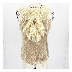 Altar'd State Sleeveless Lace Covered Blouse M